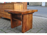 jali sheesham solid wood coffee table / lamp table
