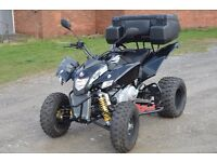 2016 QUADZILLA 320 CVT ROAD LEGAL QUAD BIKE ATV BLACK AUTOMATIC LOW MILES, 66 PLATE!