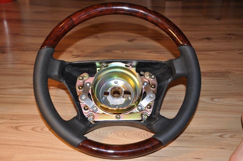 Mercedes Wood And Leather Steering Wheel 500e E55 E500 C36