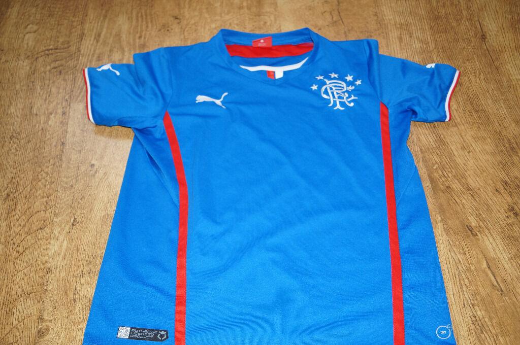 Rangers Puma Tshirt 14 yrs.