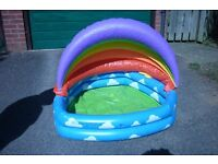 Rainbow blow up paddling pool