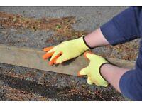 Gloves, work grip gloves, nitrile coated palm, great for gardening, DIY, maintenance, builders