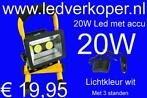 Led 10W 20W 30W bouwlamp op accu met lader € 19,95