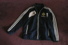 NORTHERN IRELAND FOOTBALL BOY'S TRACKSUIT TOP AGE 12 NAVY/WHITE