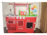 ELC Wooden toy kitchen and extras