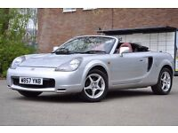 Toyota MR2 1.8 VVT-i Roadster 2dr Red leather, Long MOT
