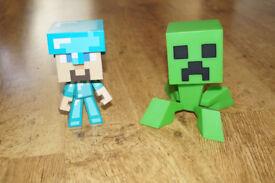 Minecraft Creeper and Steve Figures