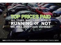 SCRAP CARS , 4x4s & VANS WANTED £CASH PAID£