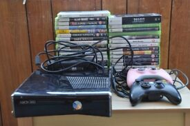 Microsoft Xbox360 S Model 1439 Black Slim 250gb including a massive 34 game bundle, Thatcham, Berks