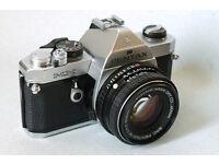 pentax mx manual analog slr 35mm film camera k1000 50mm 1,7 lens