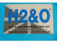 Wet and dry pressure testing kit.