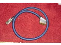 MONSTER GOLD SCART LEAD FOR TV COST £50 WHEN BOUGHT FROM CURRY'S
