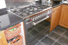 range cooker Diplomat ADP 5701 6 gas burners, single elec oven well used, collect GL11