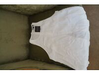 Top Shop Ladies Off White sleeveless blouse/top Size 10