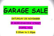 CHAPEL HILL  GARAGE SALE  SATURDAY 28 NOVEMBER   9.00am to 1.00pm Chapel Hill Brisbane North West Preview