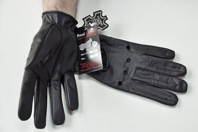 Medium Leather Glove - GENUINE LEATHER DRIVING GLOVES ALL SEASONS MEDIUM  LARGE XL XXL