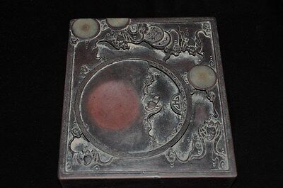 Antique Chinese Hand Carved Ink Stone #2