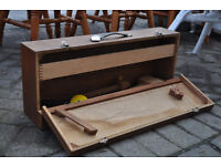 vintage wooden tool box / chest industrial appeal