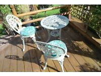 BISTRO TABLE AND CHAIRS SET PALE GREEN