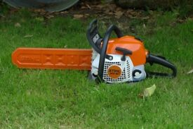 STIHL MS181 chainsaw, 14in bar and chain, very little use