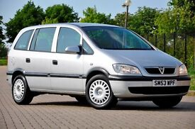 2003 Vauxhall Zafira 1.6 i 16v Club 5dr+SERVICE HISTORY+LONG MOT+READY TO DRIVE AWAY