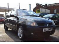 RENAULT CLIO 1.1 DYNAMIQUE 16V 3d 75 BHP LOW MILEAGE (black) 2005