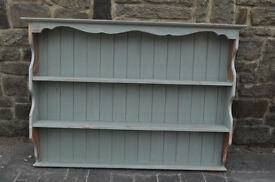 solid pine plate rack dresser top shabby chic painted and distressed