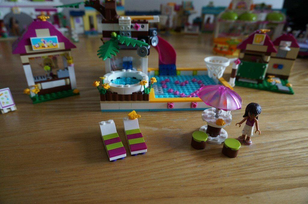 Lego Friends Heartlake City Swimming Pool 41008 Complete Built