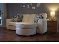 Sofa - White Leather