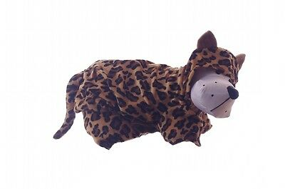 Cheetah Dog Costume (Small Dog Lap Pet Toy Doggie Puppy Leopard Cheetah Halloween Parade Costume)