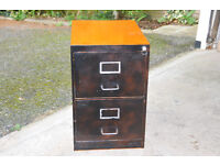 2 DRAWER METAL FILING CABINET WITH LOCK