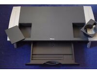 FELLOWES COMPUTER MONITOR DESKTOP STAND BLACK/SILVER 10-16 cm HIGH GOOD USED COLLECT ONLY BENFLEET
