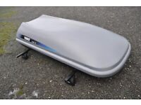 Thule Alpine 100 roof top box and bars (slot-in roofline mounts) - GWO with keys