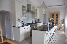 Large Kitchen/Utility with Solid Black Granite Worktops and selected High Quality appliances