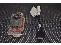 Low Profile (Half Height) PCI Express Video Card, Dual Head, 2 x DVI ports, ATI