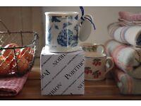 Beautiful Portmeirion Mugs Blue Botanic Brand New & Boxed Four Available