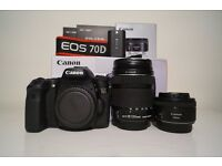 CANON EOS 70D + 2 LENSES (18/135 & 50mm)