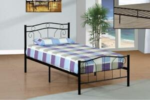WROUGHT IRON BED - BEST SELECTION OF PLATFORM BEDS ON OUR WEBSITE- WWW.KITCHENANDCOUCH.COM (IF100)
