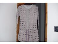 SIZE 8/10 NEW SHORTIE ALL IN ONE PJ'S IN GREY SPOTTED
