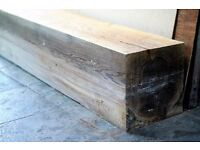 Antique Solid Pine Wooden Beam, Suit as Mantlepiece or Shelf