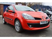 RENAULT CLIO 1.4 DYNAMIQUE S 16V 3d 98 BHP FULL SERVICE HISTORY (red) 2005