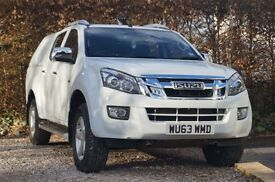 ISUZU D-MAX UTAH DOUBLE CAB TWIN TURBO DIESEL 4x4, £14500 +VAT SATELLITE NAVIGATION LEATHER INTERIOR