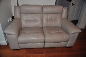 2 Seater Power recliner leather sofa
