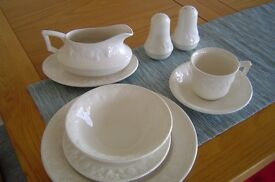 Royal Stafford Dinner set - 6 place setting with salt and pepper and gravy boat
