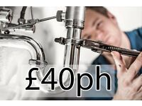 Plumber £40 per hour or fixed quotes given. Wandsworth and wimbledon districts