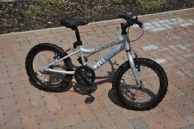 Ridgeback MX16 kids bike silver - excellent condition - rarely used - one year old