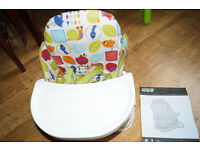 Mamas and Papas travel booster seat with travel bag and instruction.