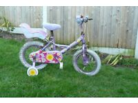 Girl's bike, purple, with stableisers