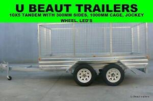 10x5  Tandem Trailer  Galvanised with 1000mm cage New Seaford Frankston Area Preview