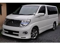 Nissan Elgrand direct Japan Import supplied fully UK reg. Many more enroute, contact Algys Autos.